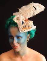Marie Antoinette Tricorn. Model: Wild Honey. Photographer: Denise Bradley. Hair & MUA: Missy Vintage