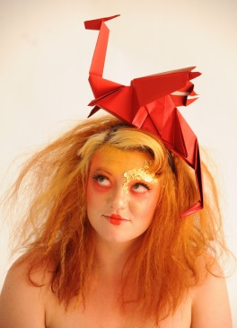 Origami Dragon. Model: No Dice Sugar! Photographer: Denise Bradley