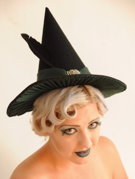 Witches hat. Model: Gemma @ Retro Chick. Photographer: Denise Bradley